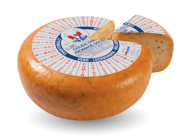 Gouda cheese spiced